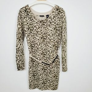 Moda International leopard sweater dress.  J12T9